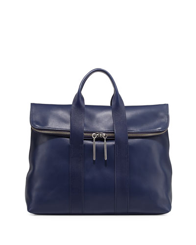 31-Hour Fold-Over Tote Bag, Navy
