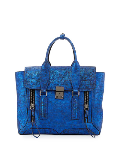 3.1 Phillip Lim Pashli Medium Zip Satchel Bag, Electric Blue