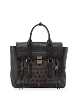 3.1 Phillip Lim Pashli Medium Zip Satchel Bag, Soft Black