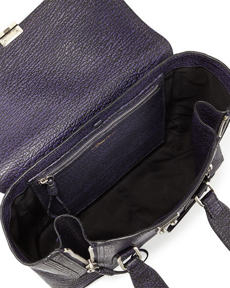 Pashli Medium Zip Satchel Bag, African Violet