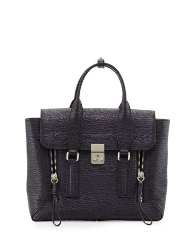 3.1 Phillip Lim Pashli Medium Zip Satchel Bag, African Violet