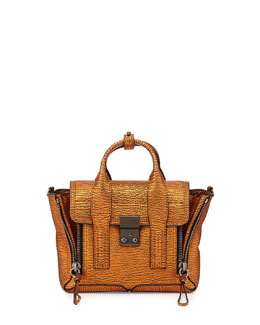 3.1 Phillip Lim Pashli Mini Metallic Satchel Bag, Copper