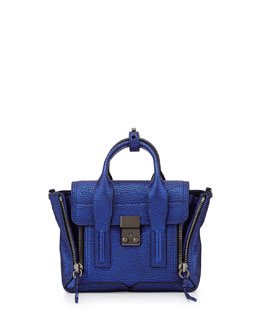 3.1 Phillip Lim Pashli Mini Metallic Satchel Bag, Electric Blue
