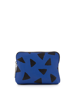3.1 Phillip Lim 31 Second Leather Zip Pouch, Bright Cobalt/Black