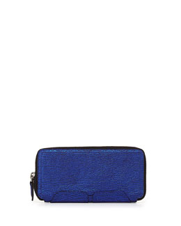 3.1 Phillip Lim Pashli Zip-Around Wallet, Electric Blue