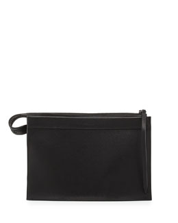 3.1 Phillip Lim Depeche Large Clutch Bag, Black