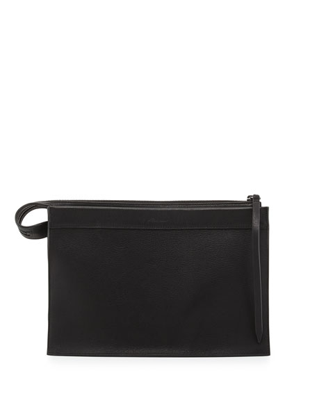 Depeche Large Clutch Bag, Black