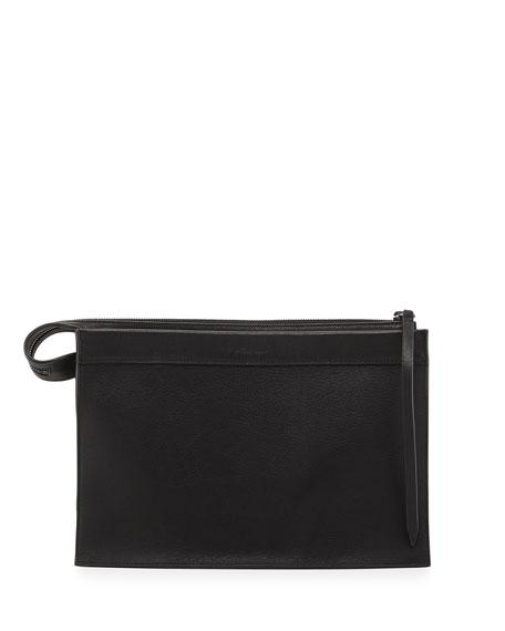 Depeche Large Clutch Bag, Black