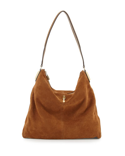 Elizabeth and James Pyramid Leather Hobo Bag, Coco