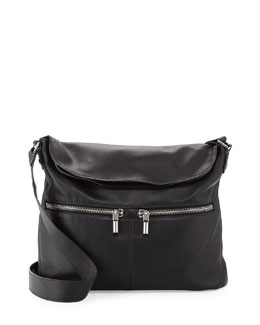Elizabeth and James James Lambskin Crossbody Bag, Black