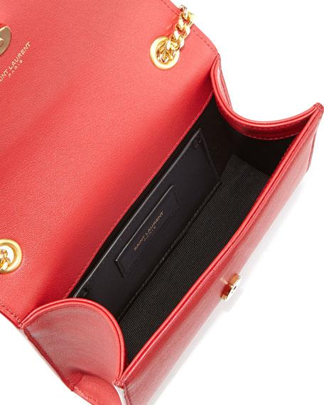 Monogram Studded Crossbody Bag, Red