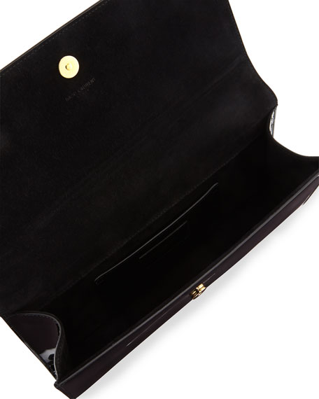Monogram Patent Clutch Bag, Black