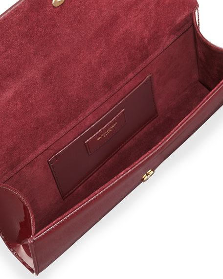 Monogram Patent Clutch Bag, Bordeaux