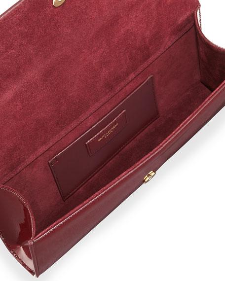 Monogram Patent Clutch Bag, Bordeaux