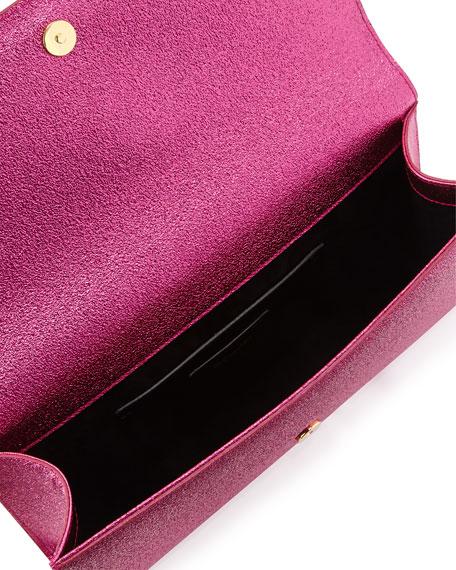 Monogram Crinkled Clutch Bag, Pink