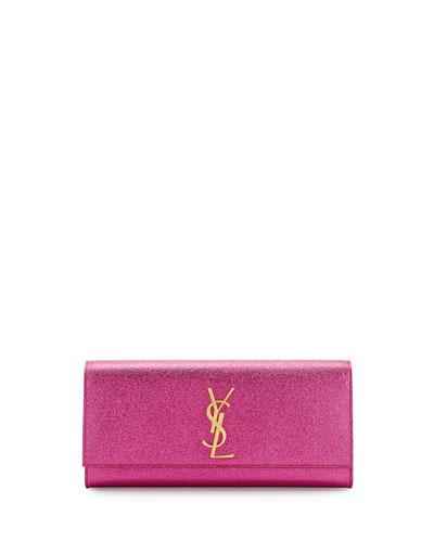 Monogramme Crinkled Clutch Bag, Pink