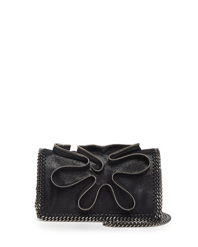 Falabella Zipper Crossbody Bag, Black