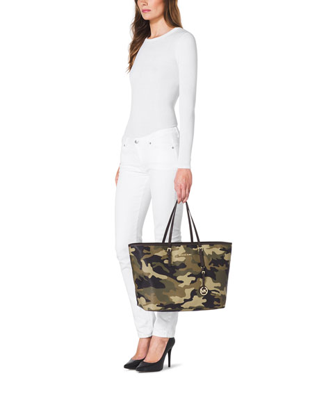 f7e35aeb366f MICHAEL Michael Kors Medium Jet Set Camo Travel Tote