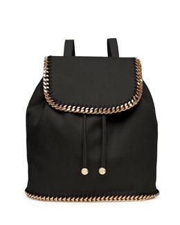 Stella McCartney Falabella Shaggy Deer Backpack, Black/Gold