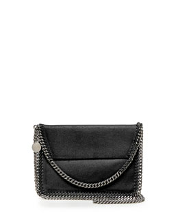 Stella McCartney Falabella Mini Flap Shoulder Bag, Black