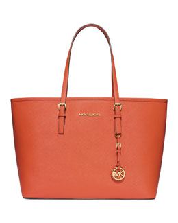 MICHAEL Michael Kors <MKFMGLOBALCOPY-mmk> Medium Jet Set Travel Tote