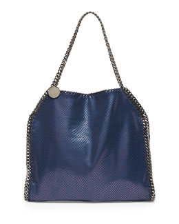 Stella McCartney Baby Bella Faux-Python Tote Bag, Navy