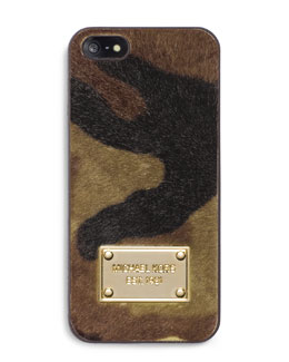 MICHAEL Michael Kors  Camo Calf-Hair Phone Cover