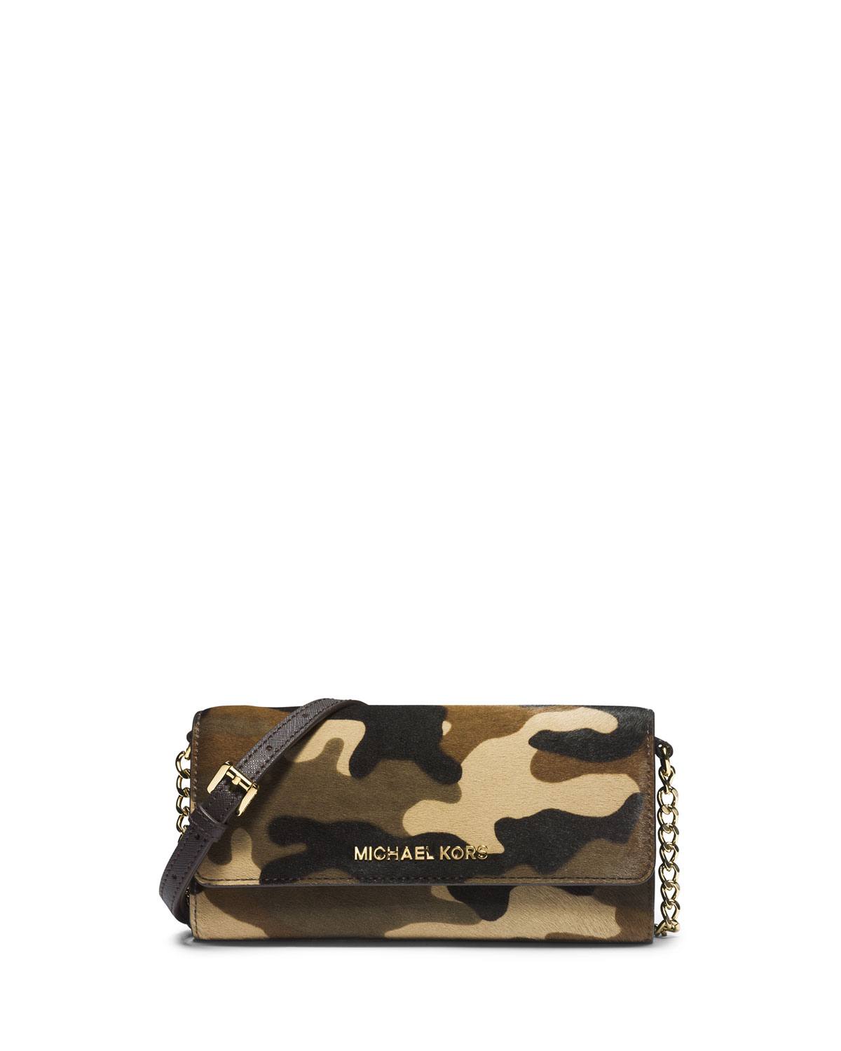 c020ffbcbfd5 MICHAEL Michael Kors Jet Set Camo Travel Wallet On A Chain