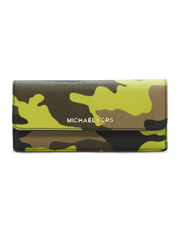MICHAEL Michael Kors  Jet Set Camo Travel Flat Wallet
