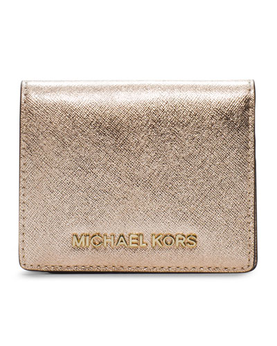 9b51f1a75fce MICHAEL Michael Kors Jet Set Travel Flap Card Holder from Neiman ...
