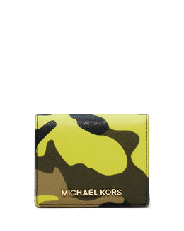 MICHAEL Michael Kors  Jet Set Camo Travel Flap Card Holder