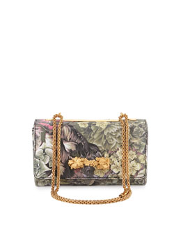 Valentino Floral Va Va Voom Flap Shoulder Bag