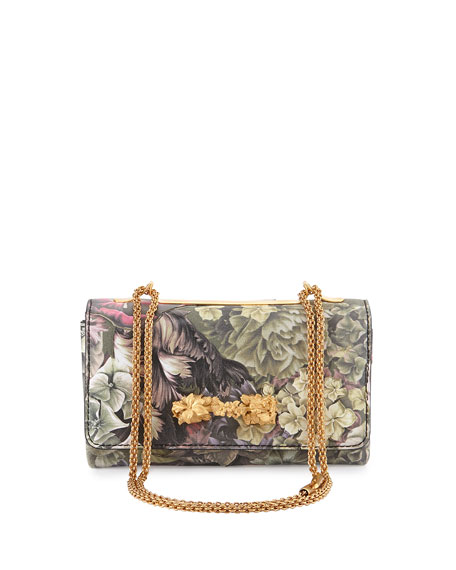 Floral Va Va Voom Flap Shoulder Bag