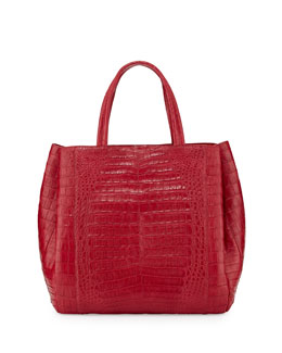 Nancy Gonzalez Crocodile Medium Tote Bag, Red