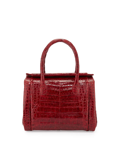 Nancy Gonzalez Crocodile Small Satchel Bag, Red