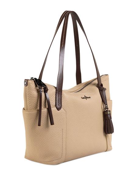 1efc9d535 Cole Haan Parker Zip-Top Shopper Tote Bag, Sandstone