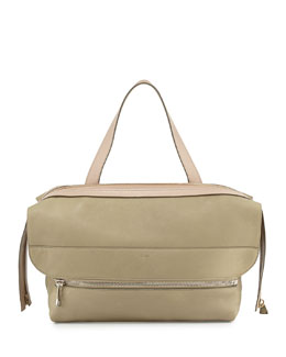 Chloe Dalston Medium Deerskin Shoulder Bag, Green/Beige