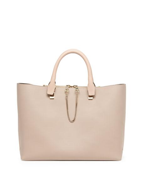 Baylee Medium Tote Bag, Gray/Beige