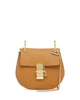 Chloe Drew Mini Chain Shoulder Bag, Tan