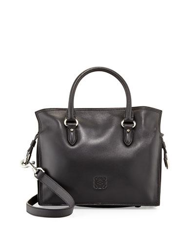 Loewe Flamenco 23 Calfskin Tote Bag, Black