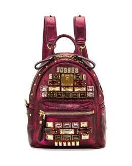 MCM Stark Edeline Baby Backpack, Pink