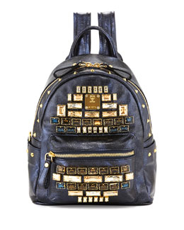 MCM Stark Edeline Mini Backpack, Blue
