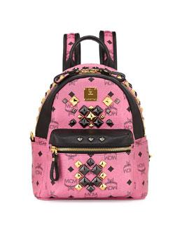 MCM Stark Brock Mini Backpack, Pink