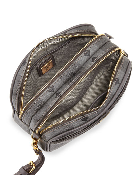 Striped Visetos Mini Crossbody Bag, Gray