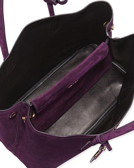 883a5f1ba5076 Prada Suede Double Bag