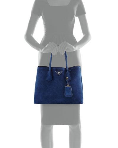 black prada handbag - prada red suede paneled double handle leather bag, prada leather ...