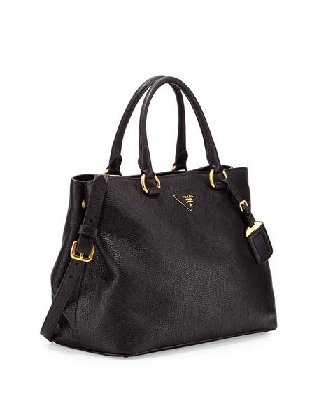 Vitello Daino Tote Bag, Black (Nero)