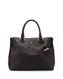 Prada Vitello Daino Tote Bag, Black (Nero)