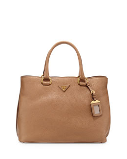 Prada Vitello Daino Tote Bag, Tan (Sesamo)