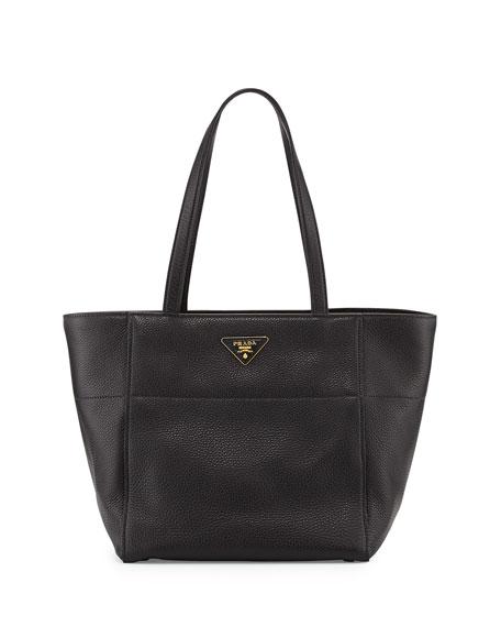 Vitello Daino Shopper, Black (Nero)
